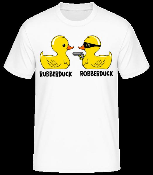 Robberduck - Men's Basic T-Shirt - White - Vorn