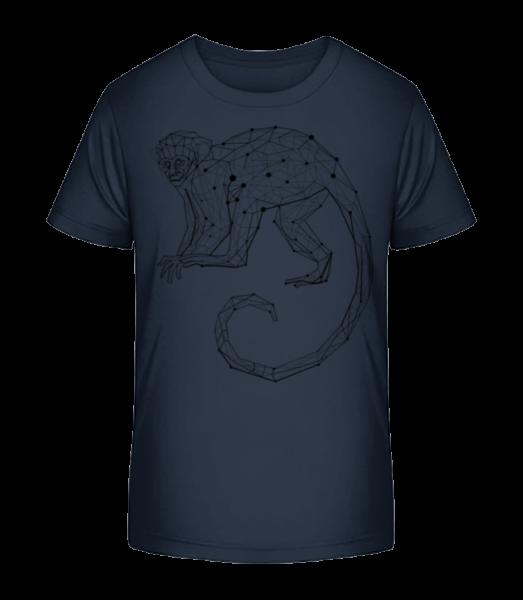 Polygon Monkey - Kid's Premium Bio T-Shirt - Navy - Vorn