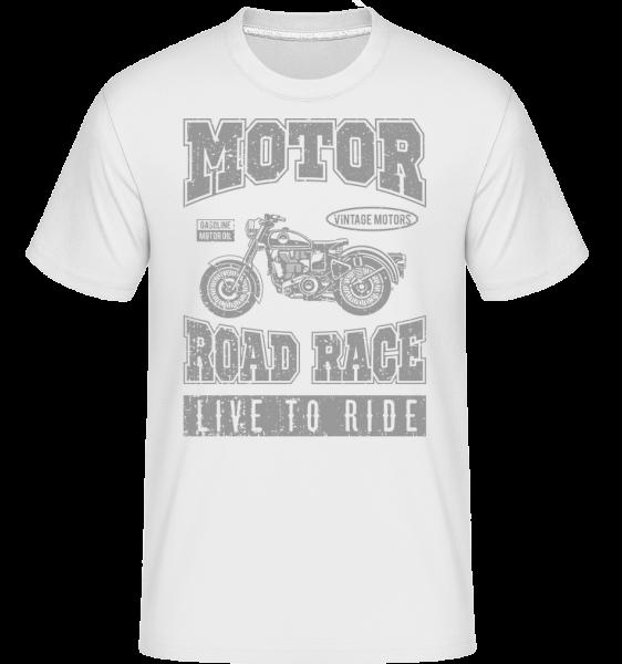 Motor Road Race -  Shirtinator Men's T-Shirt - White - Vorn