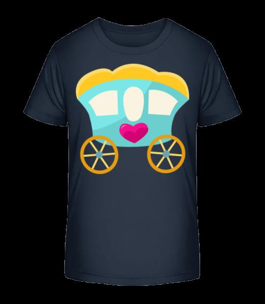 Princess Carriage - Kid's Premium Bio T-Shirt - Navy - Vorn