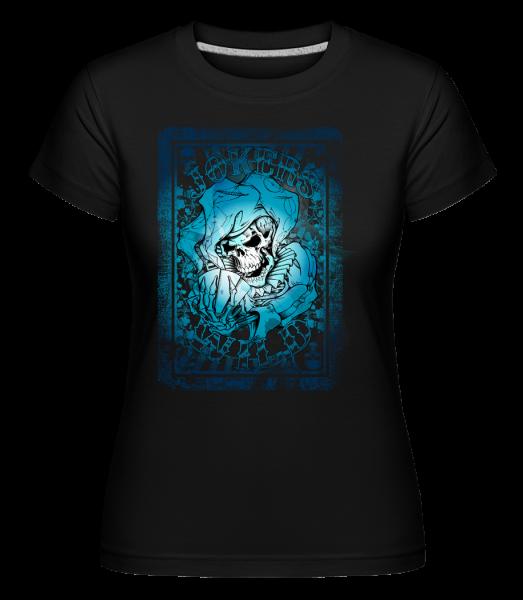 Skeleton Playing Card Joker - Shirtinator Women's T-Shirt - Black - Vorn