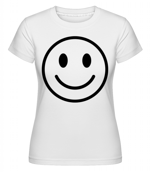 Happy Emoticon - Shirtinator Women's T-Shirt - White - Vorn