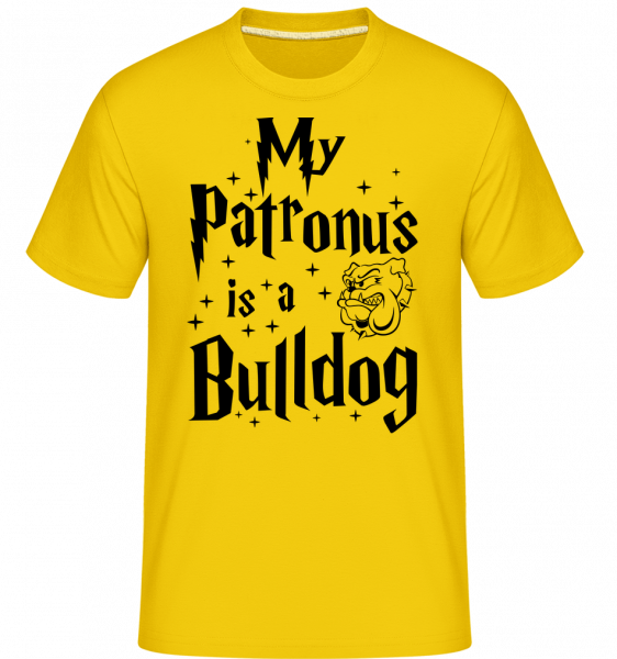 My Patronus Is A Bulldog -  Shirtinator Men's T-Shirt - Golden yellow - Vorn