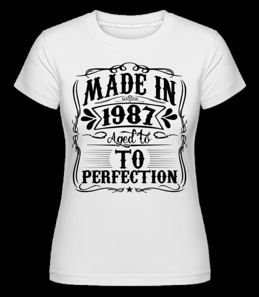 Aged To Perfektion -  Shirtinator Women's T-Shirt - White - Vorn