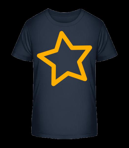 Simple Star - Kid's Premium Bio T-Shirt - Navy - Vorn