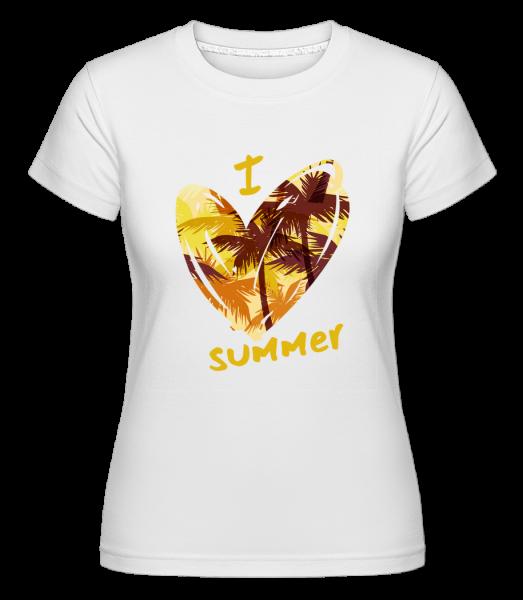 I Love Summer Heart - Shirtinator Women's T-Shirt - White - Vorn