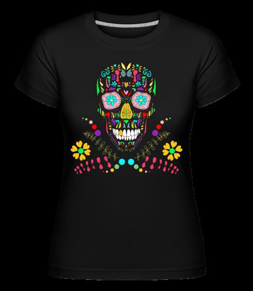 Colorful Skull - Shirtinator Women's T-Shirt - Black - Vorn