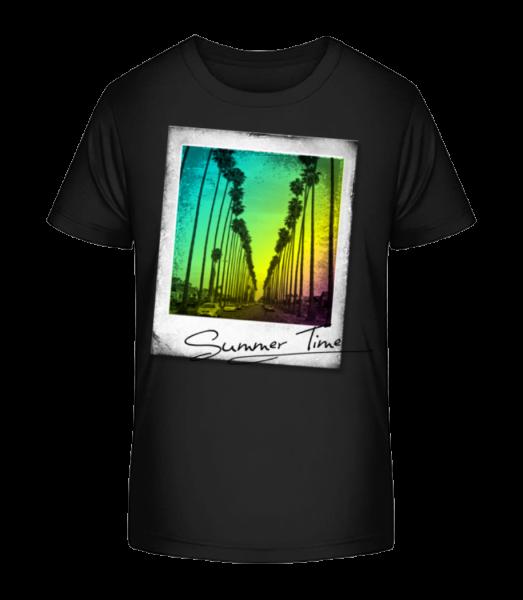 Summer Time - Kid's Premium Bio T-Shirt - Black - Vorn
