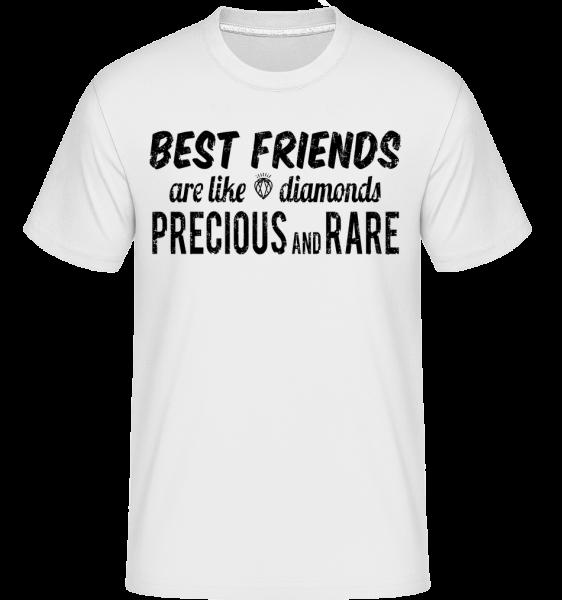 Best Friends Are Like Diamonds -  Shirtinator Men's T-Shirt - White - Vorn
