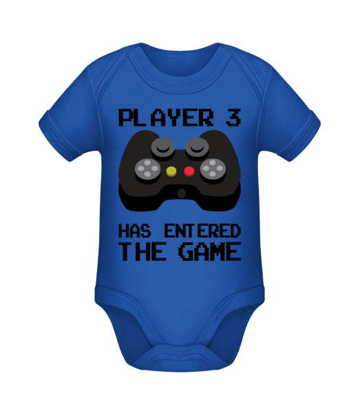 Player 3 Entered The Game - Organic Baby Body - 12-18 month - Vorn