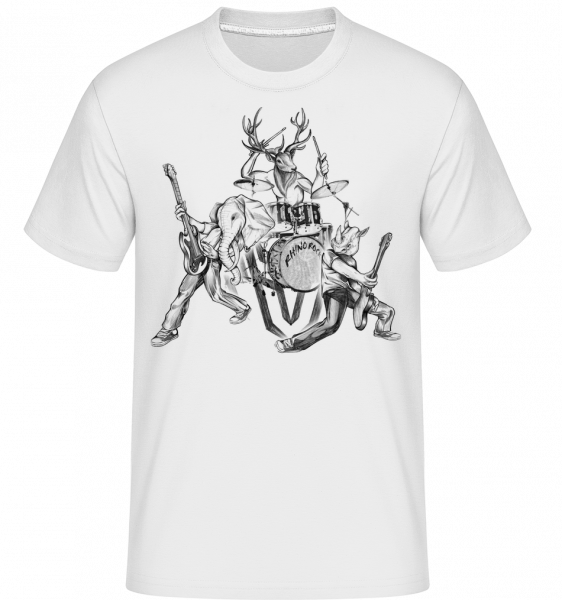 Wild Band -  Shirtinator Men's T-Shirt - White - Vorn