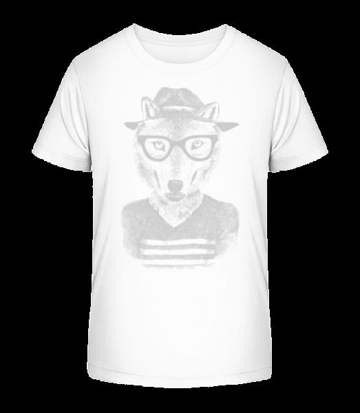 Hipster Fox - Kid's Premium Bio T-Shirt - White - Vorn