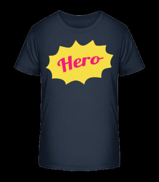 Hero Icon - Kid's Premium Bio T-Shirt - Navy - Vorn