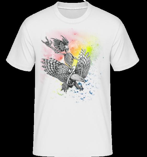 Death Flyer -  Shirtinator Men's T-Shirt - White - Vorn