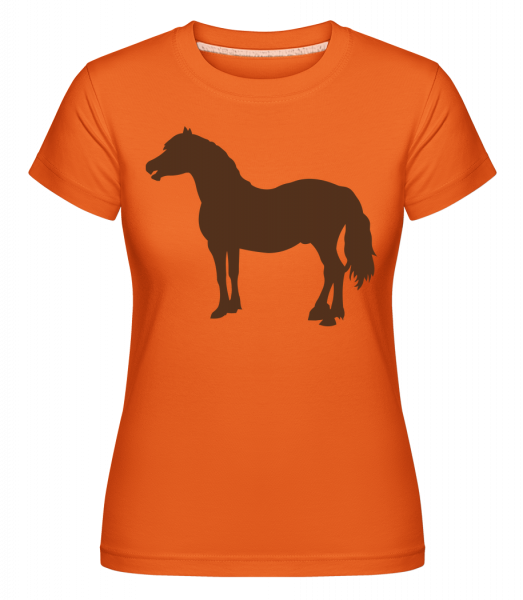 Horse -  Shirtinator Women's T-Shirt - Orange - Vorn
