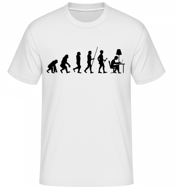 Evolution Of Office Workers - Shirtinator Men's T-Shirt - White - Vorn