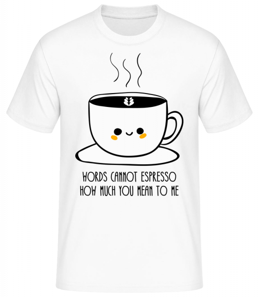 Words Connot Espresso - Basic T-shirt - White - Vorn