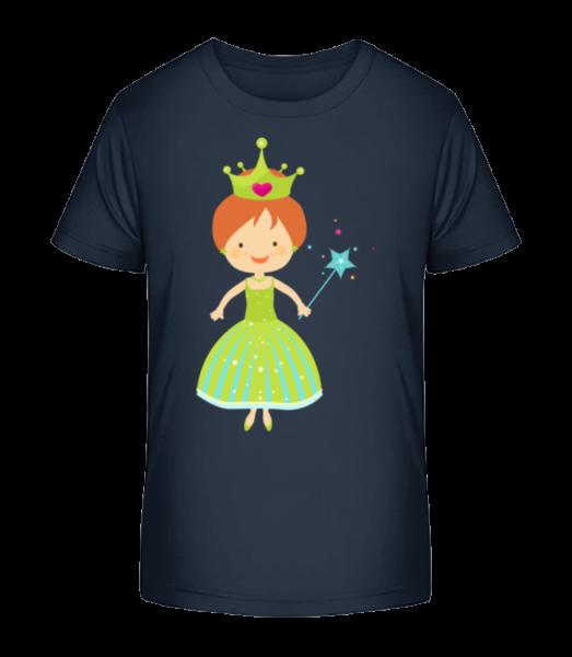 Princess Kids - Kid's Premium Bio T-Shirt - Navy - Vorn