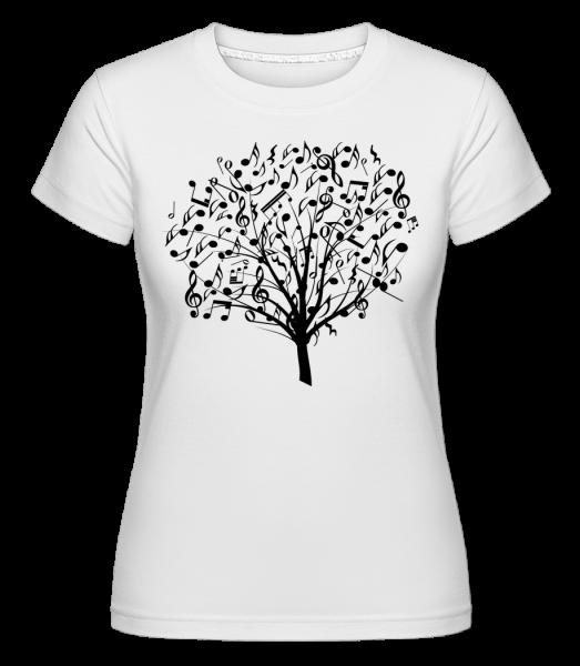 Music Tree -  Shirtinator Women's T-Shirt - White - Vorn