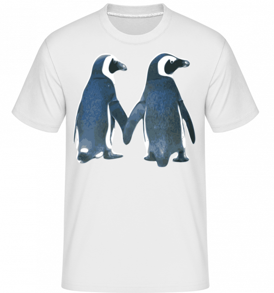Penguin Couple - Shirtinator Men's T-Shirt - White - Vorn