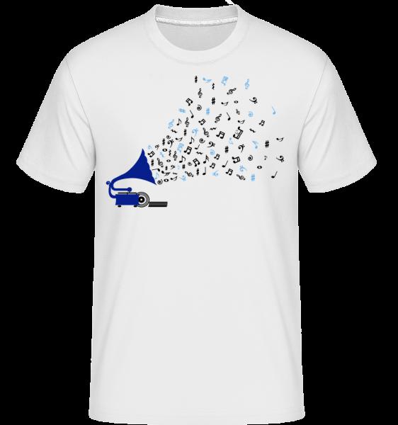 Music Notes Gramophone - Shirtinator Men's T-Shirt - White - Vorn