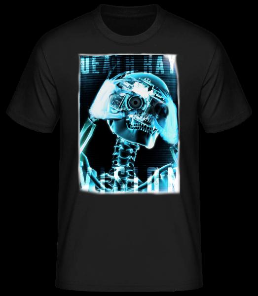 X-Ray Skeleton - Men's Basic T-Shirt - Black - Vorn