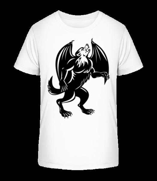 Gothic Monster Black - Kid's Premium Bio T-Shirt - White - Vorn