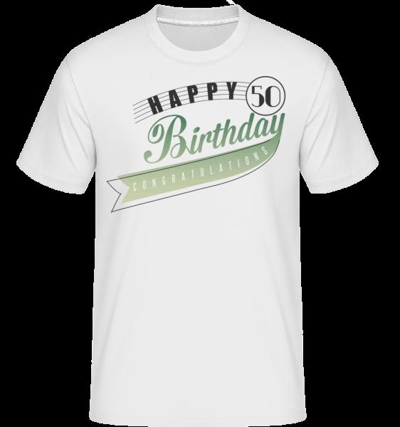 Happy 50 Birthday - Shirtinator Men's T-Shirt - White - Vorn