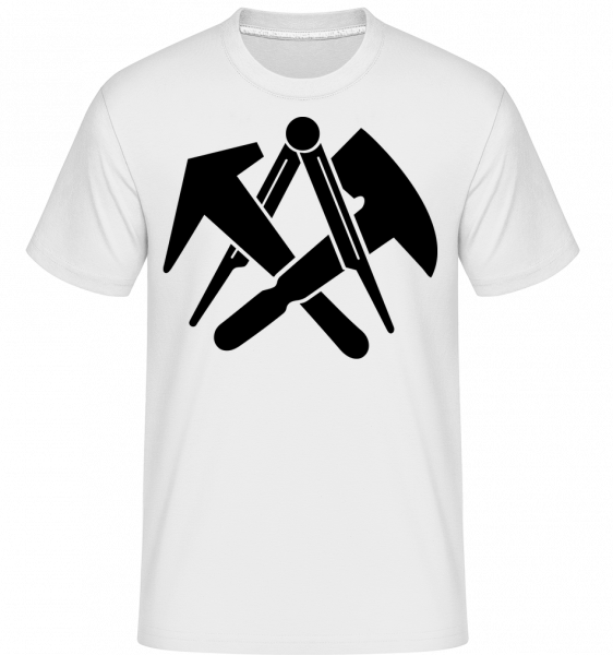 DIY Symbols -  Shirtinator Men's T-Shirt - White - Vorn