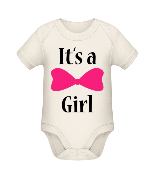 It's A Girl - Ribbon - Organic Baby Body - 12-18 month - Vorn