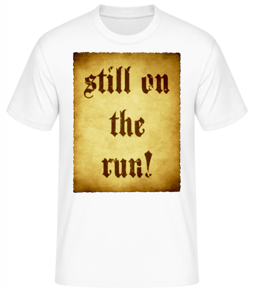 Still On The Run - Men's Basic T-Shirt - White - Vorn