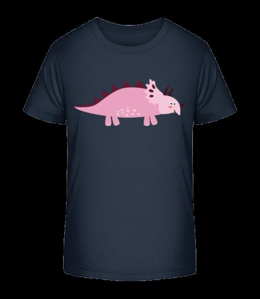 Triceratops - Kid's Premium Bio T-Shirt - Navy - Vorn