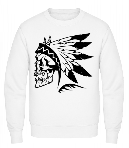 Wild West Skull - Classic Set-In Sweatshirt - White - Vorn