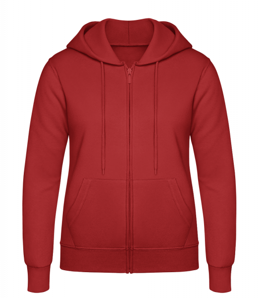 Women's Sweatjacket - Red - Vorn