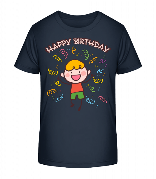 Happy Birthday Dance - Kid's Premium Bio T-Shirt - Navy - Vorn