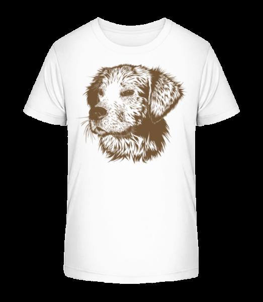 Little Dog - Kid's Premium Bio T-Shirt - White - Vorn