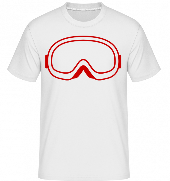 Snowboard Glasses Red - Shirtinator Men's T-Shirt - White - Vorn