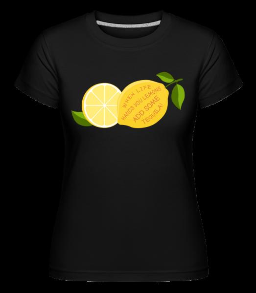 Lemon and Tequila -  Shirtinator Women's T-Shirt - Black - Vorn