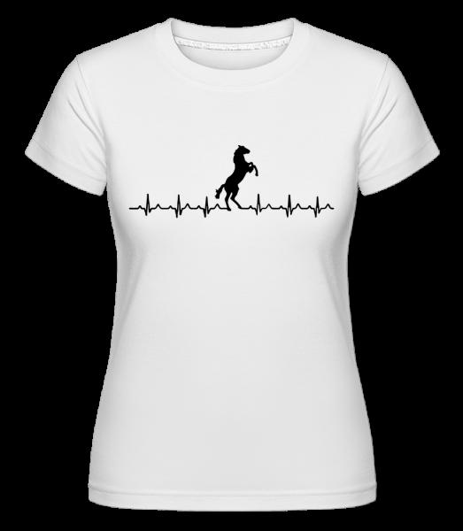 Horse Heartbeat -  Shirtinator Women's T-Shirt - White - Vorn