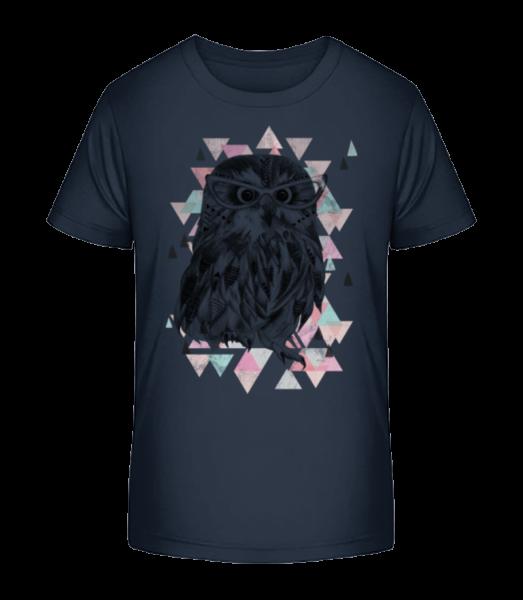 Hipster Owl - Kid's Premium Bio T-Shirt - Navy - Vorn