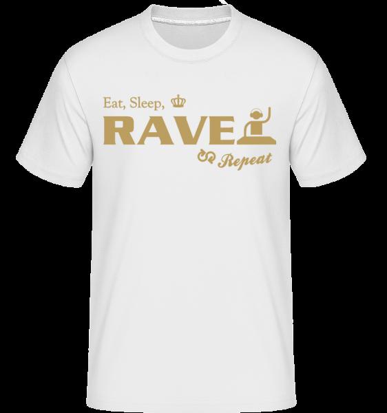 Eat Sleep Rave Repeat - Shirtinator Men's T-Shirt - White - Vorn