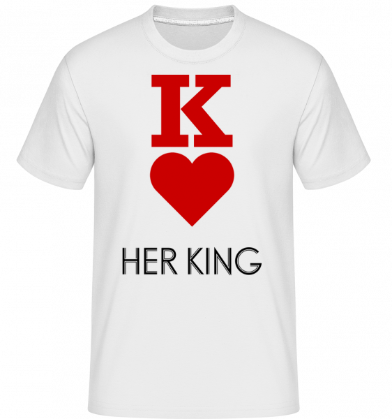Her King -  Shirtinator Men's T-Shirt - White - Vorn