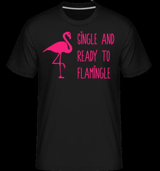 Single And Ready To Flamingle -  Shirtinator Men's T-Shirt - Black - Vorn