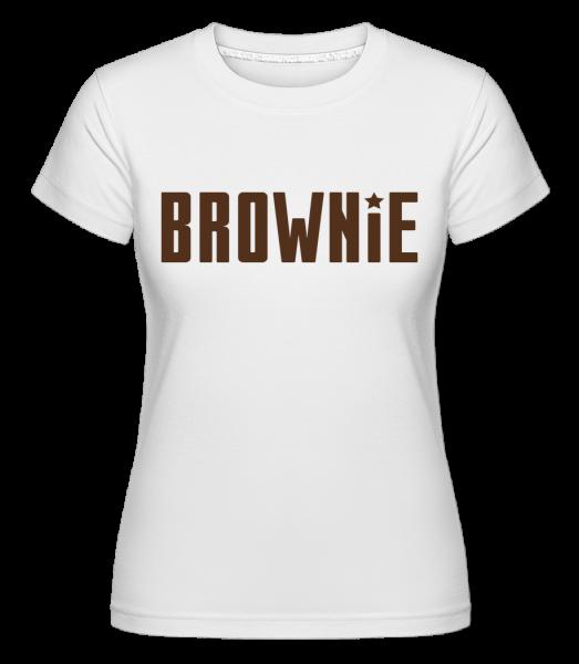 Brownie -  Shirtinator Women's T-Shirt - White - Vorn