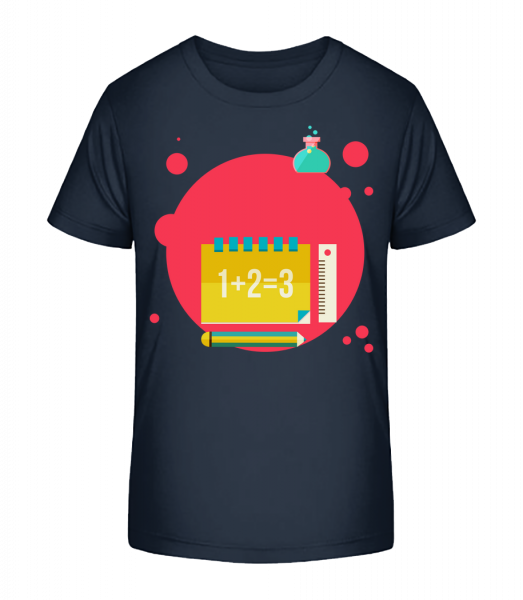 Maths Icon - Kid's Premium Bio T-Shirt - Navy - Vorn