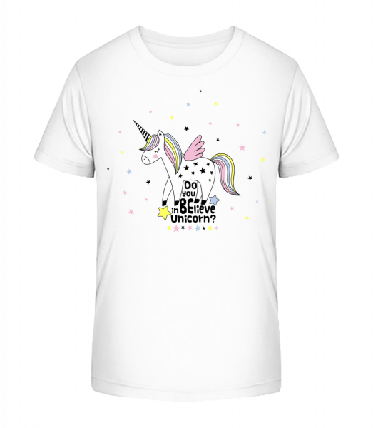Do You Believe In Unicorn - Kid's Premium Bio T-Shirt - White - Vorn