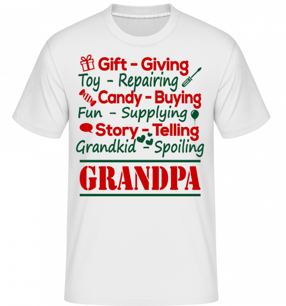 The Perfect Grandpa - Shirtinator Men's T-Shirt - White - Vorn