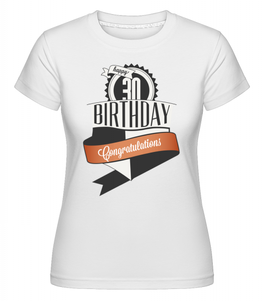 30 Birthday Congrats - Shirtinator Women's T-Shirt - White - Vorn