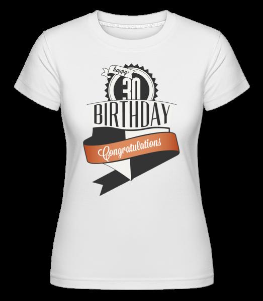 30 Birthday Congrats -  Shirtinator Women's T-Shirt - White - Vorn