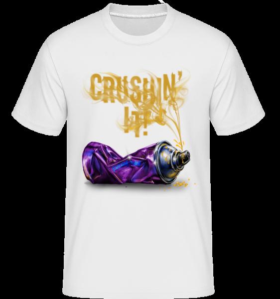 Crushing It -  Shirtinator Men's T-Shirt - White - Vorn